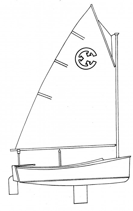 Com-Pac Picnic Cat Line Drawing - Photo of Com-Pac Picnic Cat sail boat
