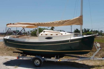 Sun Cat with Bimini top - Photo of Com-Pac Sun Cat sail boat