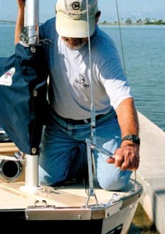 Com-Pac Sun Cat Mastendr System - tightening rig - Photo of Com-Pac Sun Cat sail boat