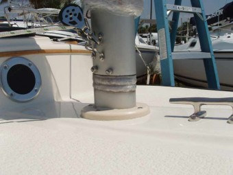 Garage package mast stub - Photo of Com-Pac Sun Cat sail boat