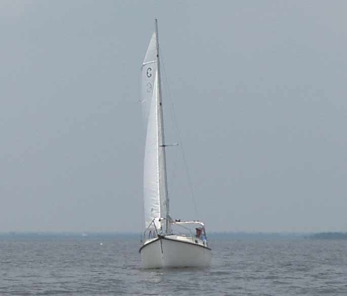 Com-Pac Eclipse Bow View Sailing - Photo of Com-Pac Eclipse sail boat