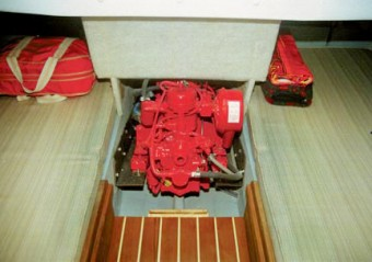 Com-Pac Horizon Cat Diesel Engine location - Photo of Com-Pac Horizon Cat Diesel sail boat