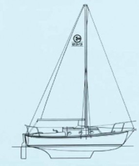 Com-Pac 23 line drawing - Photo of Com-Pac 23/4 sail boat