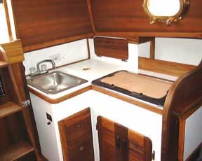 Com-Pac 27 Galley - Photo of Com-Pac 27/3 sail boat