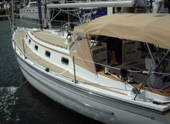 Com Pac 35 with Bimini and Dodger - Photo of Com-Pac 35 sail boat