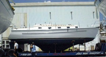 Com-Pac 35 on Low Boy trailer - Photo of Com-Pac 35 sail boat