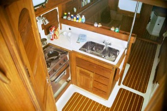 Com-Pac 35 down the companionway - Photo of Com-Pac 35 sail boat