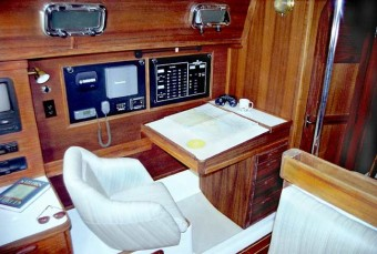 Com-Pac 35 navigation table - Photo of Com-Pac 35 sail boat