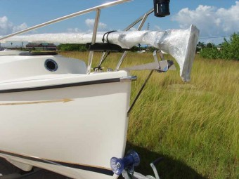 Stainless Bow Sprit and Roller - Photo of Com-Pac Legacy sail boat